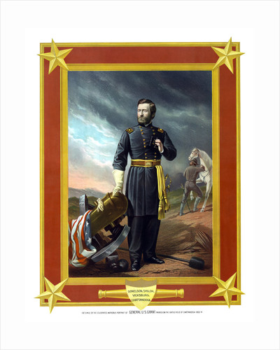 Digitally restored Civil War artwork of General Ulysses S. Grant. by John Parrot