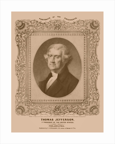 Digitally restored artwork of Thomas Jefferson. by John Parrot