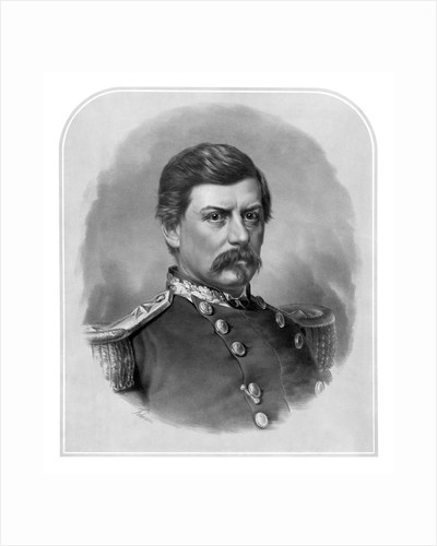 Digitally restored Civil War artwork of Union General George McClellan. by John Parrot