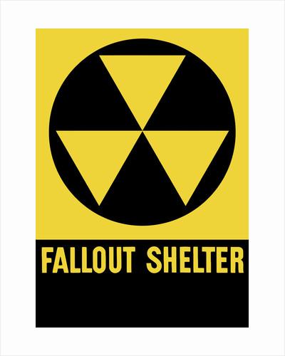 Cold War era fallout shelter sign. by John Parrot