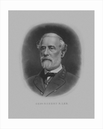 Vintage Civil War artwork of Confederate General Robert E. Lee. by John Parrot