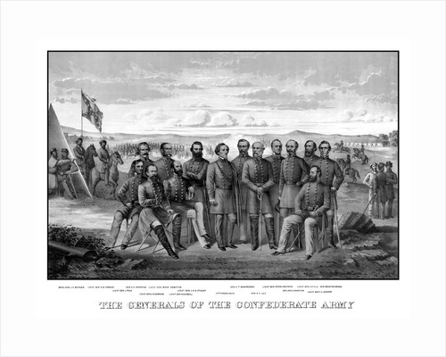 Vintage Civil War print featuring sixteen of The Confederate Army's top Generals. by John Parrot
