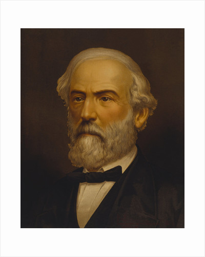 Vintage Civil War painting of General Robert E. Lee. by John Parrot