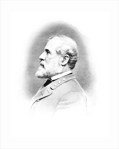 Vintage Civil War print of General Robert E. Lee. by John Parrot