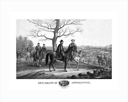 Vintage Civil War print showing Generals Robert E. Lee and Ulysses S. Grant. by John Parrot