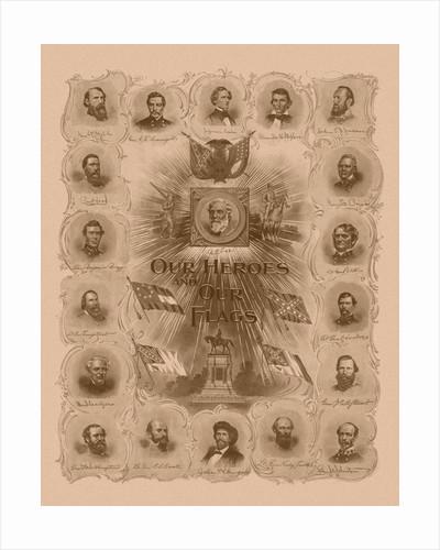 Civil War print of General Robert E. Lee and prominent Confederate Generals. by John Parrot