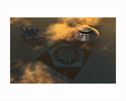 Artist's concept of crop circles made by extraterrestrials. by Mark Stevenson