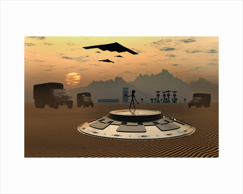 Alien landings are a common occurrence in the infamous Area 51. by Mark Stevenson