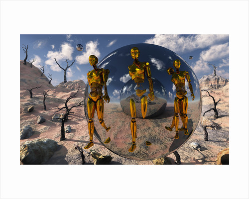 An advanced civilization uses time travel spheres to send out robotic exploration teams. by Mark Stevenson