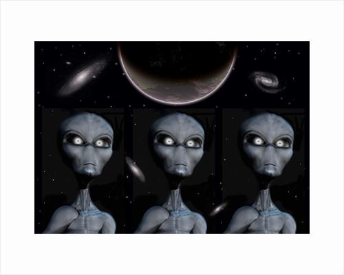 Grey Alien clones. by Mark Stevenson