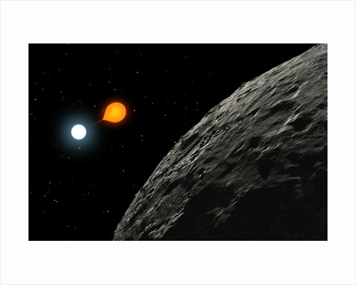 An eclipsing binary star known as Algol, or Beta Persei. by Ron Miller