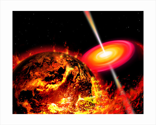End of the World: The Earth Destroyed by a Black Hole by Ron Miller