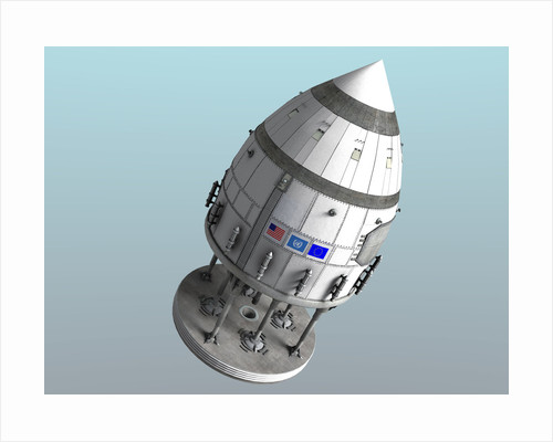 Orion-drive spacecraft in standard configuration for space flight. by Rhys Taylor