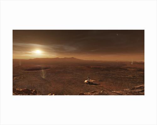 Mars Exploration Rover Spirit in Gusev Crater. by Steven Hobbs