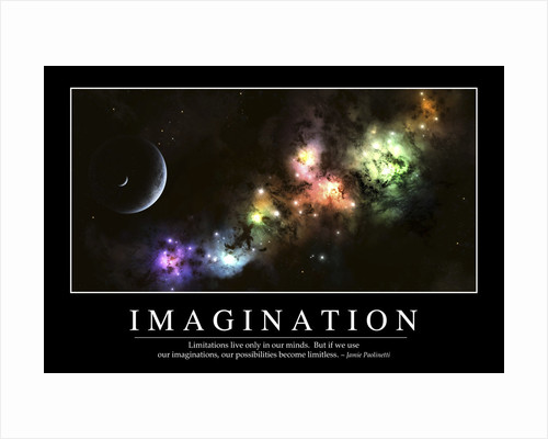 Imagination: Inspirational Quote and Motivational Poster by Anonymous