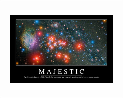 Majestic: Inspirational Quote and Motivational Poster by Anonymous