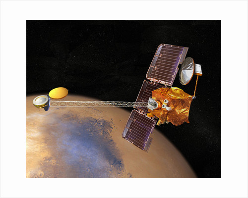 Artist's concept of Mars Odyssey. by Anonymous