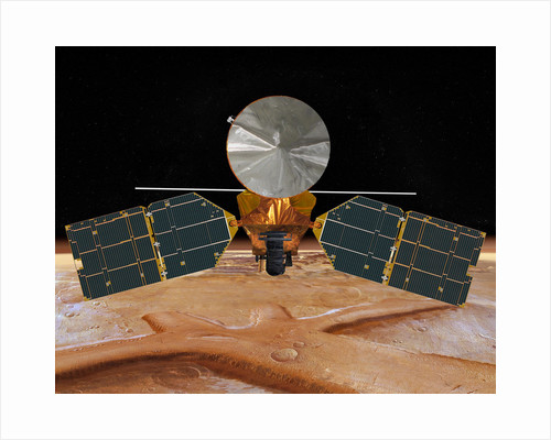 Artist's concept of the Mars Reconnaissance Orbiter. by Anonymous
