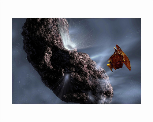 Artist's concept of Deep Impact's Encounter with Comet Tempel 1 by Anonymous
