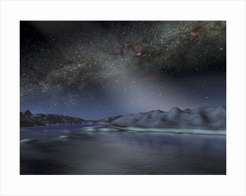 The night sky from a hypothetical alien planet. by Anonymous