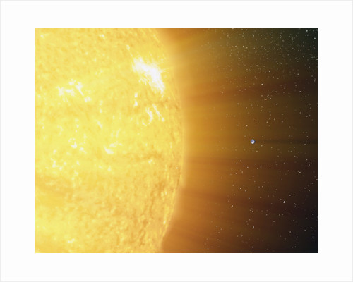 The relative sizes of the Sun and the Earth. by Anonymous