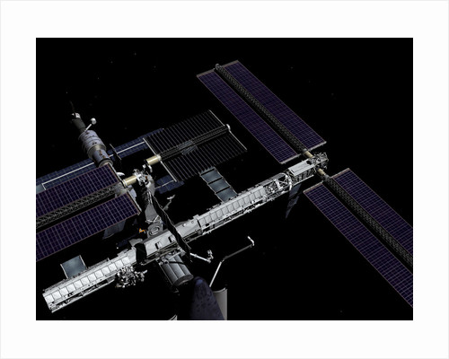 A graphic rendering of the International Space Station. by Anonymous