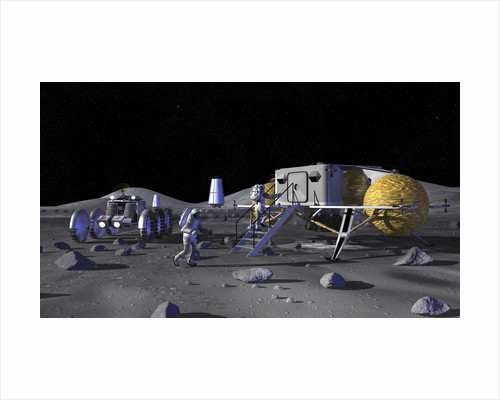 Artist's rendering of future space exploration missions. by Anonymous