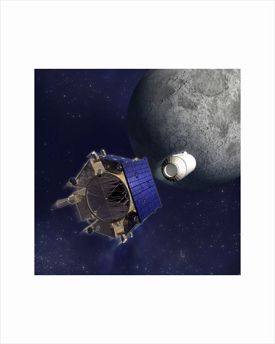 Artist's Illustration of the Lunar Crater Observation and Sensing Satellite. by Anonymous