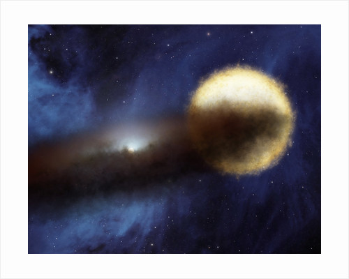 Illustration of a bright star called Epsilon Aurigae. by Anonymous