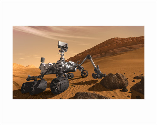 Artist concept of NASA's Mars Science Laboratory Curiosity rover. by Anonymous