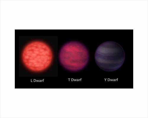 Artist's concept of brown dwarfs as seen by an interstellar traveler. by Anonymous