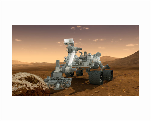 Artist's concept of NASA's Mars Science Laboratory Curiosity rover. by Anonymous