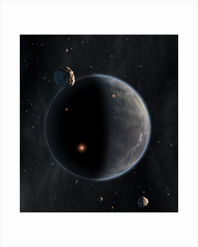 Artist's concept of an Earth-like planet rich in carbon and dry. by Anonymous