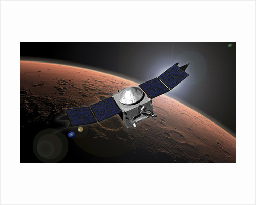 Artist concept of NASA's Mars Atmosphere and Volatile Evolution mission. by Anonymous