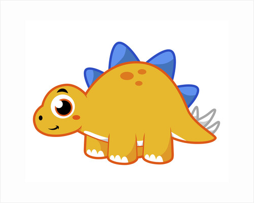 Cute illustration of a Stegosaurus. by Stocktrek Images