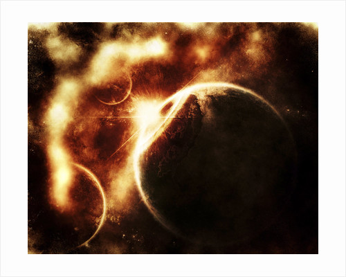 Apocalyptic view of a solar system. by Tomasz Dabrowski