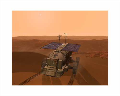 Artist's concept of a martian rover. by Walter Myers