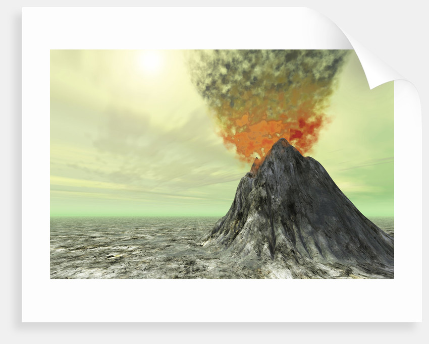 A volcano comes to life with smoke, ash and fire. by Corey Ford