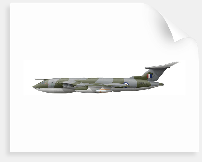 Illustration of a Handley Page Victor K2 aircraft. by Anonymous