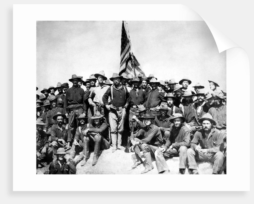 Digitally restored photo of Colonel Theodore Roosevelt and The Rough Riders. by John Parrot