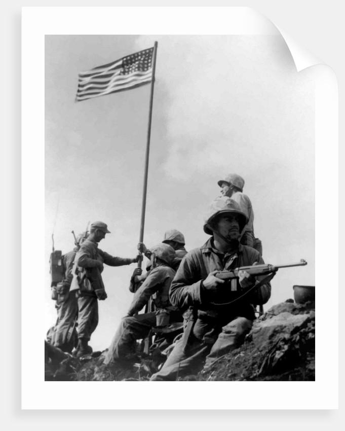 Digitally restored vector photograph of the 1st American flag raising. by John Parrot