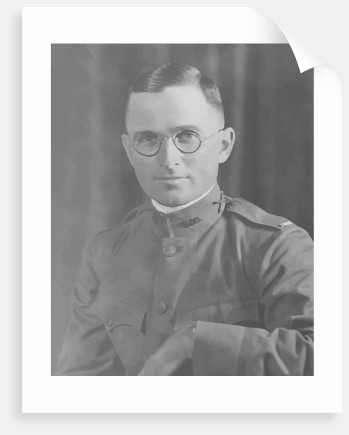 Digitally restored vector potrait of Harry S. Truman in uniform. by John Parrot