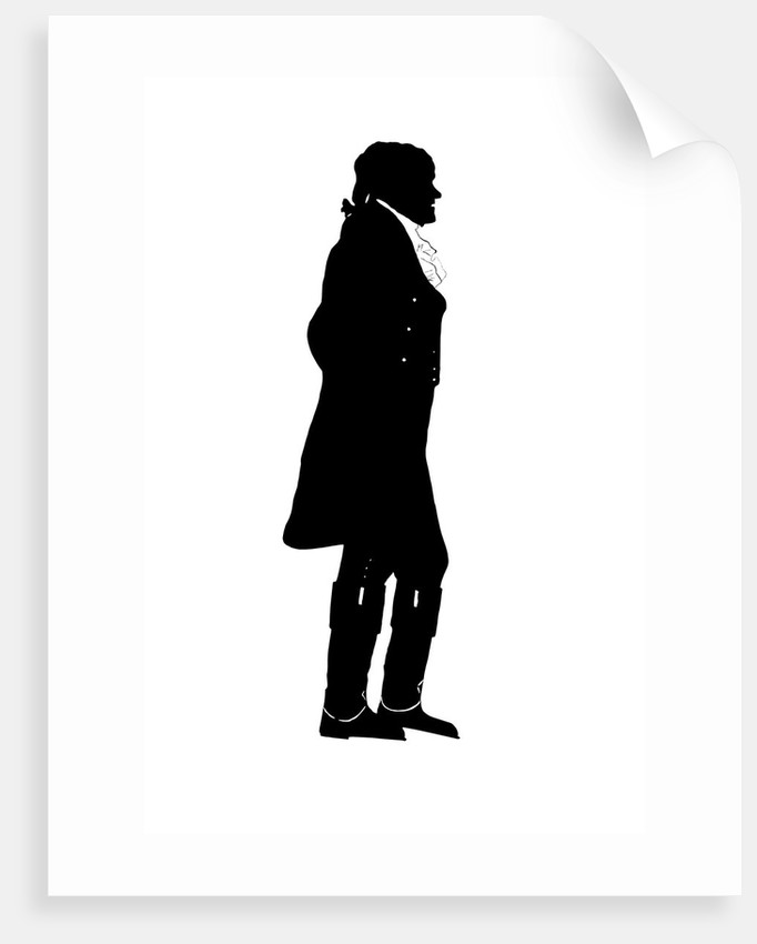 Silhouette of President Thomas Jefferson. by John Parrot