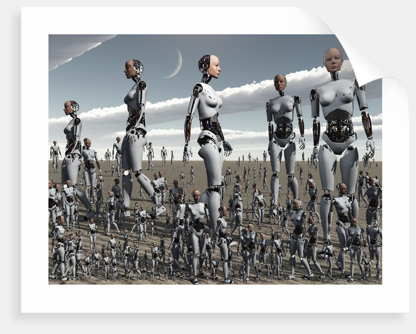 Artist's concept of an abundance of androids with artificial intelligence. by Mark Stevenson