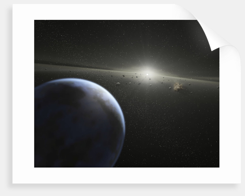 A massive asteroid belt in orbit around a star the same age and size as our Sun. by Anonymous