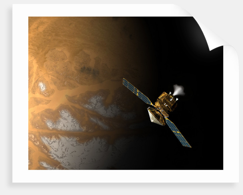 An artist's concept of NASA's Mars Reconnaissance Orbiter. by Anonymous