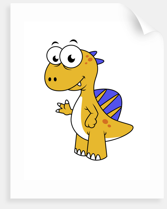 Cute illustration of a Spinosaurus. by Stocktrek Images