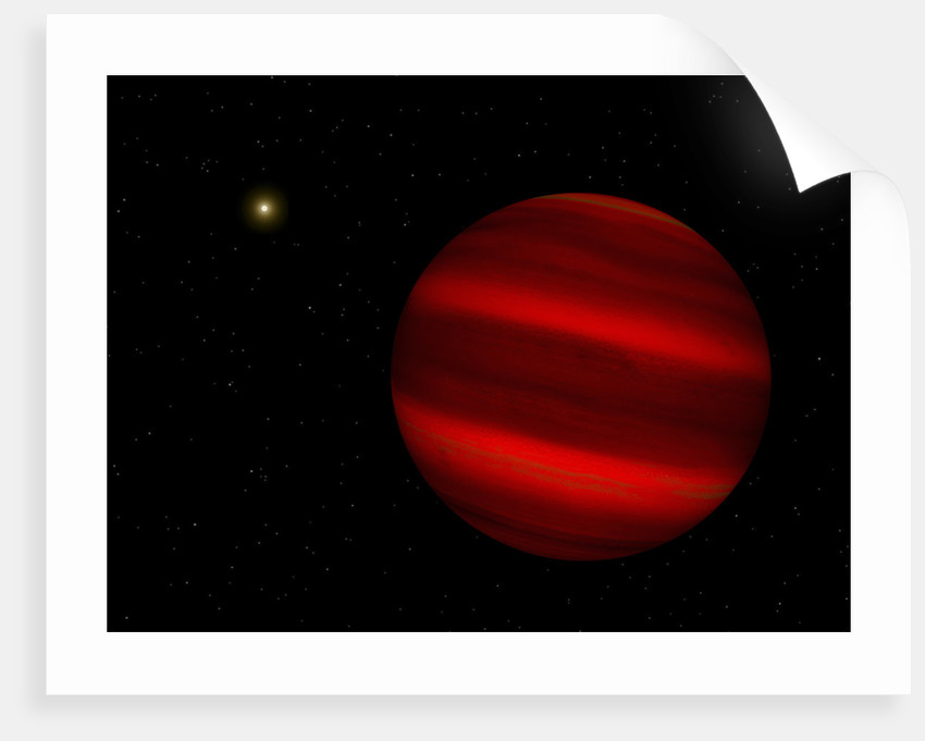 Artist's concept of the brown dwarf Gliese 229 b. by Walter Myers