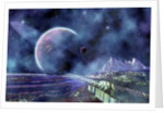 Fantasy alien world view of the universe. by Corey Ford