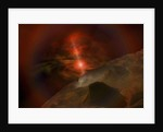 Supernova lights this alien planet. by Corey Ford